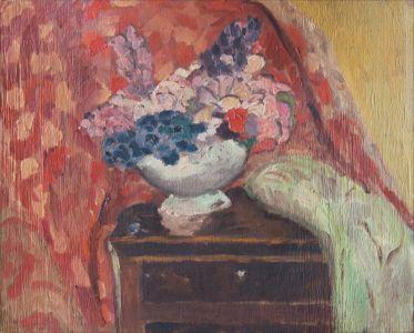 Bouquet sur commode