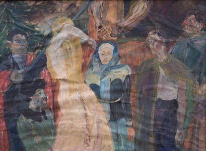 Scène cruxifiction