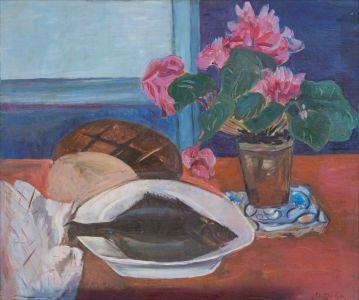 Miche de pain et poisson