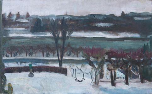 La Seine vue de la Broquette en hiver